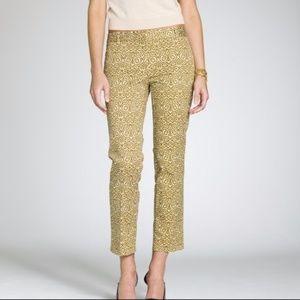 J. Crew Jakarta Café Capri City Fit Gold Pants